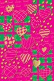 Muster-Herzhintergrund Stockbilder