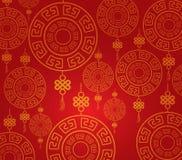 Muster-Hintergrund des Chinesischen Neujahrsfests Stockbilder
