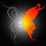 Muster-Hintergrund zeigt Fliegen-Hintergrund und Design Lizenzfreies Stockbild