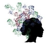 Muster im Haar Stockfoto