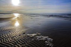 Muster im Sand Stockbild