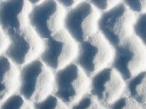 Muster im Schnee Lizenzfreies Stockbild