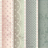 Muster im Shabby-Chic-Stil. stock abbildung