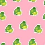 Muster kalken Sie und Blätter und Scheiben auf rosa Hintergrund Lizenzfreie Stockfotografie