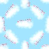 Muster-Liebeswolken des Vektors nahtlose Lizenzfreies Stockfoto