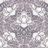 Muster-Lotosblumenmandala der Kunst nahtlose Ethnischer abstrakter Druck Bunte wiederholende Hintergrundbeschaffenheit B?hmische  vektor abbildung