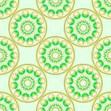 Muster mit abstraktem Mandalaelement Stockfoto