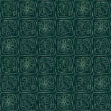 Muster mit abstrakten Blumenentwurfsformen lizenzfreie abbildung