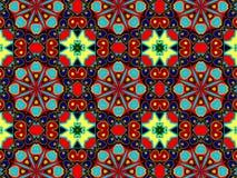 Muster mit abstrakter dekorativer Mosaikverzierung lizenzfreies stockbild
