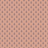 Muster mit Ankern auf rötlichem Hintergrund Stockfotografie