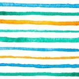 Muster mit Aquarellstreifen Stockfoto