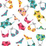 Muster mit Badeanzug Stockbilder