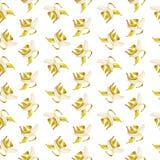 Muster mit Bananen auf einem weißen Hintergrund vektor abbildung