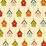 Muster mit Birdcages Stockfotografie