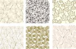 Muster mit Blättern Lizenzfreie Stockbilder