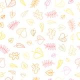 Muster mit Blättern Stockfoto