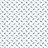Muster mit blauem Ball auf weißem Hintergrund Stockfotografie