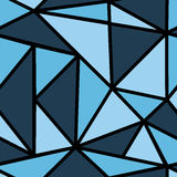 Muster mit blauem Dreieck Stockbild