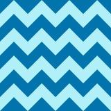 Muster mit blauem Zickzack auf buntem Hintergrund Stockfotografie