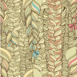 Muster mit blonden Borten Lizenzfreie Stockbilder