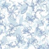 Muster mit Blumen Stockfoto