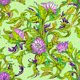 Muster mit Blumen vektor abbildung