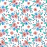 Muster mit Blumen lizenzfreie abbildung