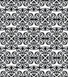 Muster mit Blumen- und geometrischer Verzierung. Lizenzfreie Stockbilder