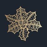 Muster mit Blumenspitzeverzierung für Weihnachtssammlung Stockbilder