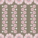 Muster mit Blumenstreifen und weißen Punkten vektor abbildung