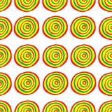 Muster mit bunten Kreisen Stockfotos