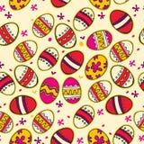 Muster mit bunten Ostereiern. Lizenzfreie Stockfotografie