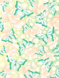 Muster mit bunten Schmetterlingen und Blumen Lizenzfreie Stockfotos