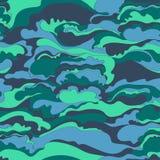 Muster mit dem Bild der Sahnebeschaffenheit der Purpurroten, Blau- und Türkisschatten entziehen Sie Hintergrund Lizenzfreies Stockbild