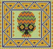 Muster mit dem Schädel und den ethnischen mexikanischen Elementen Tag der Toten, ein traditioneller Feiertag in Mexiko Stockbilder