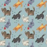 Muster mit dem Spiel der Katzen Lizenzfreies Stockfoto