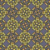 Muster mit den geometrischen Formen, die einzigartiges Design schaffen vektor abbildung