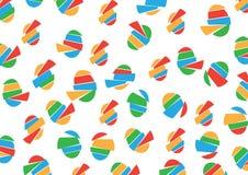 Muster mit Ei-Spielzeug Stockfoto