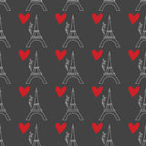 Muster mit Eiffelturm Lizenzfreie Stockfotografie