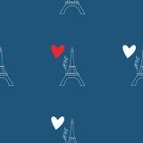 Muster mit Eiffelturm Lizenzfreie Stockfotos