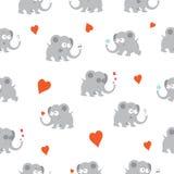 Muster mit Elefanten Lizenzfreie Stockbilder