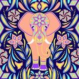 Muster mit Elefanten stockbilder