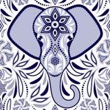 Muster mit Elefanten lizenzfreie stockfotografie