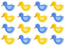 Muster mit Enten lizenzfreie stockbilder