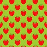Muster mit Erdbeeren Lizenzfreie Stockfotos