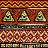 Muster mit ethnischen Motiven Stockfotografie