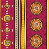 Muster mit ethnischen Motiven Stockfotos