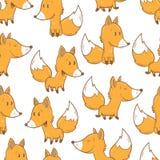 Muster mit Füchsen Stockfotos