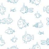 Muster mit Fischen Stockbilder