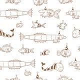 Muster mit Fischen Stockfotografie